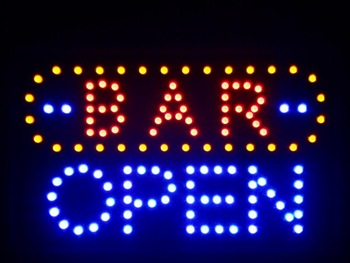 "nled072-b BAR OPEN LED Neon Sign 16"" x 10"" Wholesale Dropshipping"