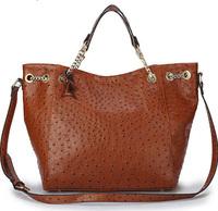 Free Shipping Women's Ostrich handbags women handbags of famous brands with logo designer shoulder bags leather handbag ladies
