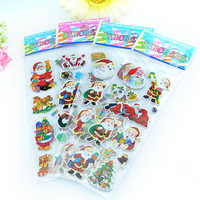 Free Shipping! (12 packages/lot)Christmas decoration gift holiday gifts child cartoon stickers sticker