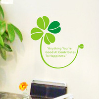 Free Shipping Wholesale and Retail Four Leaf Clover Wall Stickers Wall Decal Wall Covering Home Decoration F6007