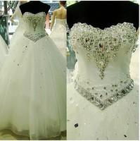 Rhinestone wedding dress lace princess embroidery wedding dress