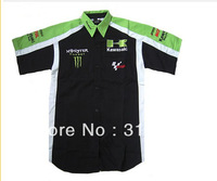 Good  f1 car team shirt, short sleeve black cool f1 shirts for kawasaki  black