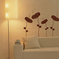 Free Shipping Wholesale and Retail Flowers Wall stickers Wall decals Wall Covering Home Decoration Aa019