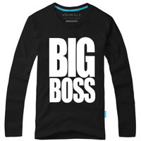 Free shipping!voimale Metal Gear / Metal Gear Solid Big BOSS BIG BOSS men's cotton long-sleeved T-shirt