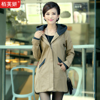 2013 autumn women's medium-long trench slim spring and autumn outerwear women's trench Dust coat