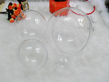 2013 New cheap wholesale 50pc/lot 8cm Christmas decorations The transparent ball with Good quality