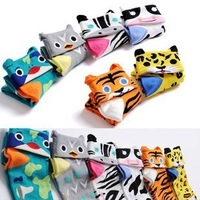 new arrival autumn Lovely Cute animal personality cotton flanging cartoon socks pairs for lovers winter socks free shipping