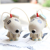Japanese style ceramic wind chimes endulge jianghu hangings exhaust pipe dog