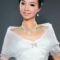 Wedding Bridal Organza Wrap Shrug Bolero Coat Tulle Cocktail Shawl White  A#S0