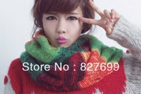 Free shipping New Fashion Trend all-match women loop nice strip design winter Knitted scarf wrap