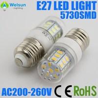 10X  220V Cold white / Warm White 360 Degree 27Led E27 5730 led Light Bulb Lamp Energy Saving