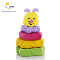 Ring blocks baby layers baby plush toy fabric 0 - 3 buttressed music