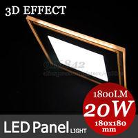 3D Effect! Warm white shape+cool white main light, Modern Led lights 20W panel light brief integrated ceiling light