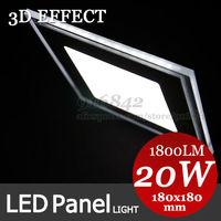 3D Effect High brightness LED Panel Lights ceiling lighting Square 10W 12W 15W 18W 20W 5730+3528SMD AC85-265V FedEx shipping