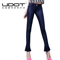 Skinny pants jeans female autumn low-waist slim fish tail sweep pants u608