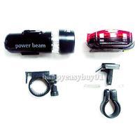 Torch Bike Bicycle 5 LED Head Light 5 LED Rear Lamp H1E1