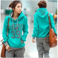 Spring 2012 Korean Women leisure hoodies and setting two thick hoodie set!
