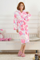 Free Shipping Sleepwear Autumn Women Nightgown Winter Sleep Pajamas For Women Kimono Robe Bathrobes,Retails/Wholesales !