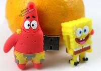 For SpongeBob Real 1GB - 32GB Cartoon USB 2.0 Flash Pen Drive Disk Stick Drives Sticks Pendrives Thumbdrive
