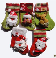 10pcs Cute Christmas socks gift bag Elderly, Snowman, Christmas Bear socks decoration 2size Three-dimensional pattern Random