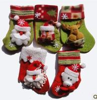 10pcs Cute Christmas socks gift bag Elderly, Snowman, Christmas Bear socks decoration 2size Three-dimensional pattern Random