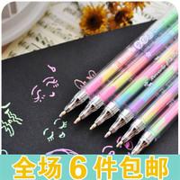 The appendtiff stationery 6 watercolor pen color pen crystallise pen diy handmade photo album multicolour pen
