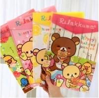 2013 korea stationery relaxed bear fresh a4 folder gluing paper bags storage bag