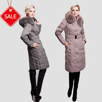 Short in size slim fur collar long fur design thickening Women down coat