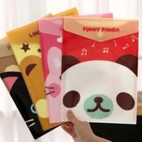 Korea stationery small animal velcro a4 folder paper bags supplies storage bag