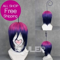 Free Shipping Short Mephistopheles Ao no Exorcist with Beard Mixed Color Anime Cosplaywig211A