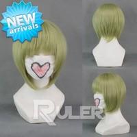 Fashion green Short TIGER & BUNNY-DRAGON KID Anime Wigs COS-229A