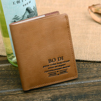 new 2013 male short design brand genuine leather men's wallet cowhide wallets for man fashion passport covers money clip men 25