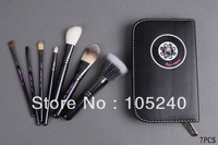 Free shipping M brand Hello Kitty professional Makeup brush 7pcs set, Goat hair, horse hair, fibre, good quality