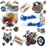 Car motorcycle scooter refires electric bicycle personality applique car film decoration stickers
