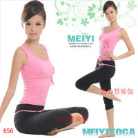 Pad yoga clothes spring and summer aerobics clothing leotard set yoga clothing