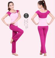 2013 summer yoga clothes female set fitness clothing short-sleeve yoga clothing