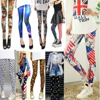 New Womens Punk Sexy Funky Stretchy Leggings Pencil Skinny Pants Pick DDK2
