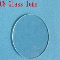 Mail Free 5pcs/Lot  42mm*1.5mm Glass Lens for C8 Flashlight DIY