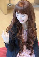 Sweet wig female pear fluffy wig scroll wig