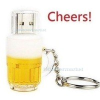 Hot Sale Beer Mug Model USB 2.0 Memory Stick Flash pen Drive 2GB 4GB 8GB 16GB 32GB