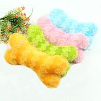 1pc Plush Sound Pet Toys Bone Shape Puppy Chew Squeaker Squeaky Toy