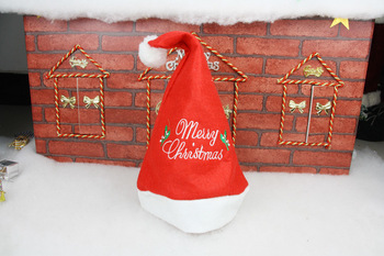 Exempt postage Christmas decorations Christmas gift embroidered cap Santa Claus hat