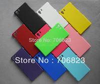 Free shipping 50pcs For Sony Xperia Z1 Honami L39h rubber plastic hard phone case+50pcs clear screen protectors