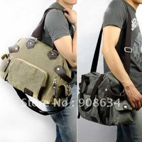 2011 New Exquisite Adjustable Belt Canvas Men's Satchel Schoolbag Bag