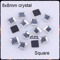 8x8mm square 288pcs/lot flatback crystal NEW ARRIVE Hotfix Rhinestones CPAM Free Brides stones Wholesale
