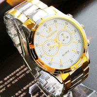 Free Shipping Quality Wristwatches Retail Fashion&Casual Stainless Steel Watch For Men White Men Watch