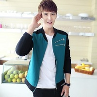 new 2013 fashion casual jacket baseball men with multicolor  slim fit sport  JYBU277  FREE SHIPPIG