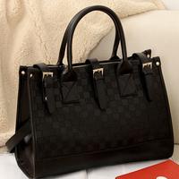 2013 Fashio designer handbag Mng plaid For women's Shoulder/Messenger handbag  black plaid bucket handbags bag