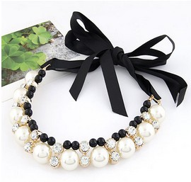 2014 New Factory wholesales Fashion Western statement elegant Pearls Elegant Punk choker necklace jewelry 222