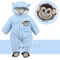 New Arrival Baby clothes Newborn Romper autumn and winter thickening cotton-padded baby outerwear monkey 0-12months Baby Clothes